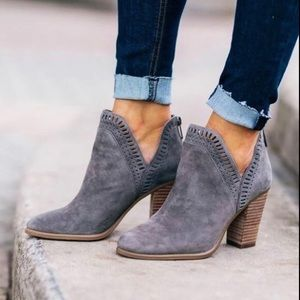 Vince Camuto suede cut out ankle booties 6/6.5